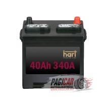 Akkumulátor (40Ah, 340A, Jobb+) - Hart