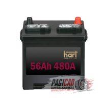 Akkumulátor (56Ah, 480A, Jobb+) - Hart