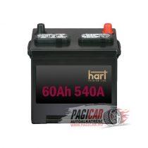 Akkumulátor (60Ah, 540A, Jobb+) - Hart
