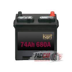 Akkumulátor (74Ah, 680A, Jobb+) - Hart