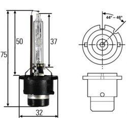 D2S xenon izzó (4300K) - M-Tech