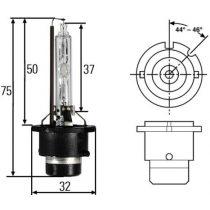 D2S xenon izzó (6000K) - M-Tech